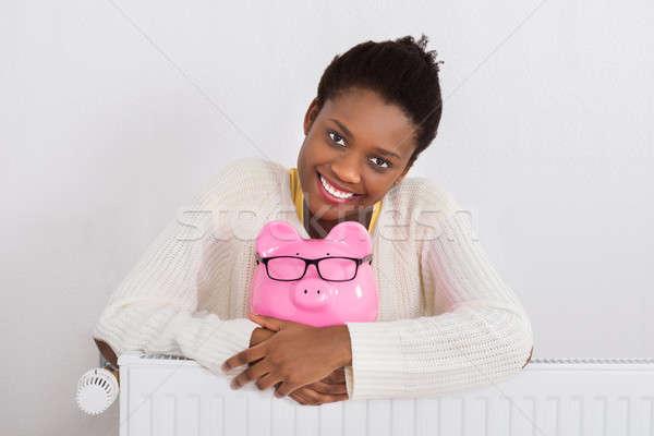 Stok fotoğraf: Kadın · radyatör · genç · Afrika