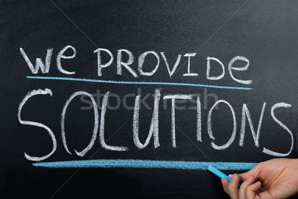Solution Concept Written On Blackboard Stock photo © AndreyPopov