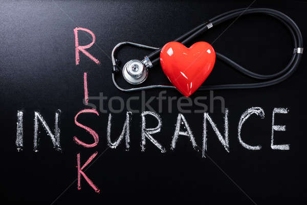 Zorgverzekering risico factor stethoscoop hartvorm liefde Stockfoto © AndreyPopov