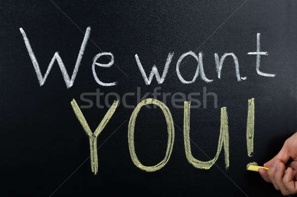 We Want You Concept Written On Blackboard Stock photo © AndreyPopov