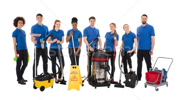 Group Of Happy Janitors Stock photo © AndreyPopov