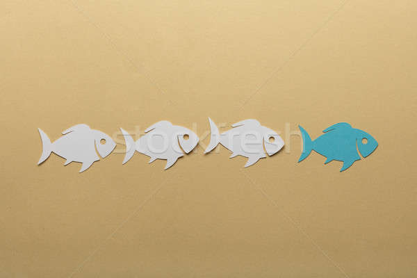 Paper Fishes In A Row Stock photo © AndreyPopov