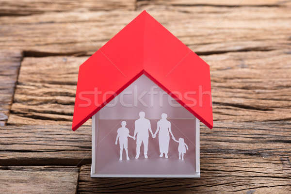 Papier Familie Haus Modell Tabelle Stock foto © AndreyPopov