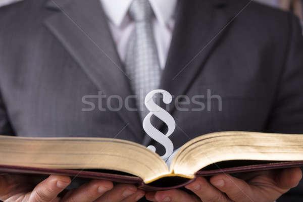 судья прав книга пункт символ Сток-фото © AndreyPopov