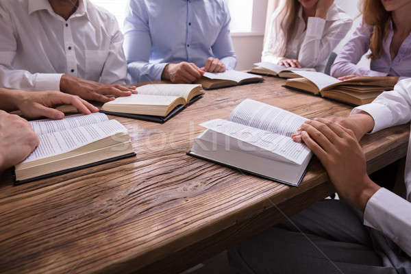 Group Of People Reading Bible Stock photo © AndreyPopov