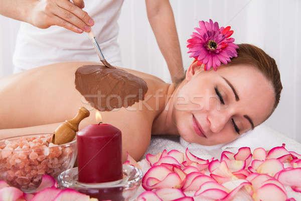 Femme traitement de la peau spa centre fleur Photo stock © AndreyPopov