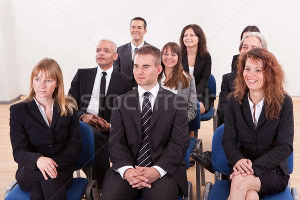 Ritratto uomini d'affari donne seminario business donna Foto d'archivio © AndreyPopov