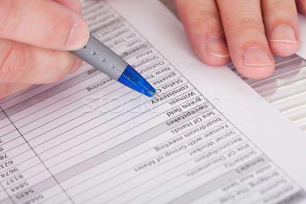 Filling Application Form Stock photo © AndreyPopov