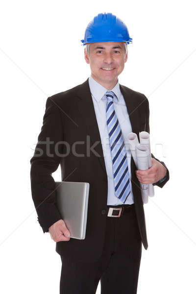 Portrait Of Happy Mature Architect Stock photo © AndreyPopov