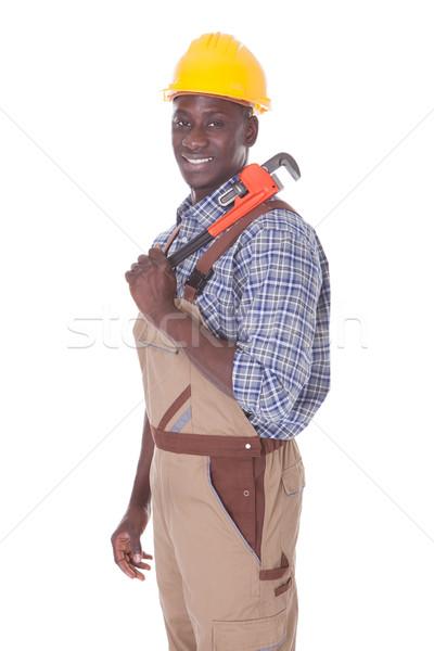 Repairman Holding Wrench Stock photo © AndreyPopov
