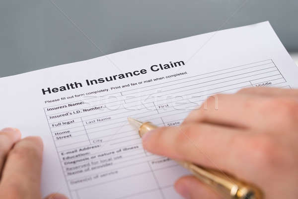 Stock photo: Health insurance claim form