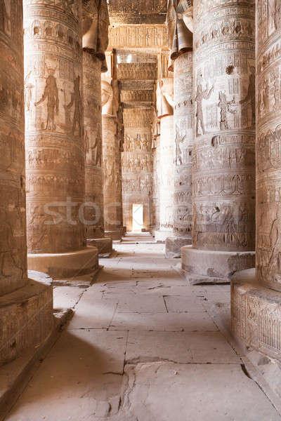 Kolommen tempel gedekt verf kunst steen Stockfoto © AndreyPopov