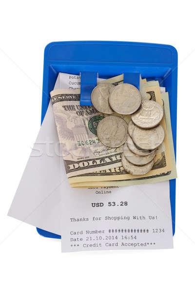 торговых получение американский долларов белый Сток-фото © AndreyPopov