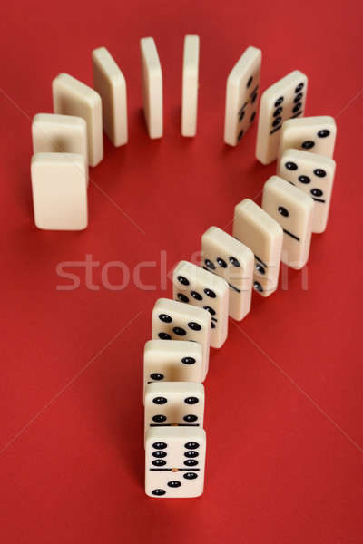 Question Mark Made From Domino Stock photo © AndreyPopov