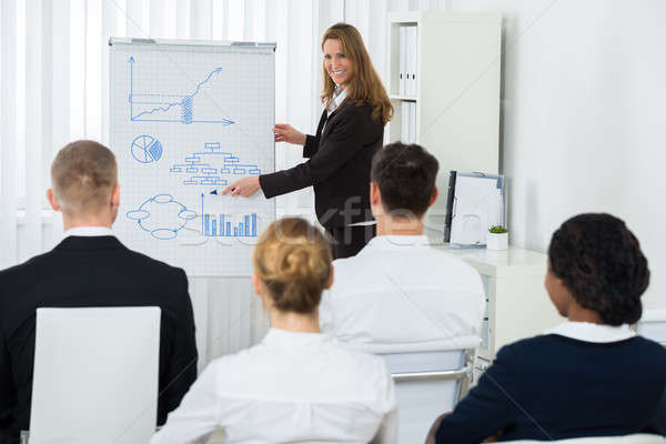 Manager Explaining Business Strategy To Her Team Stock photo © AndreyPopov