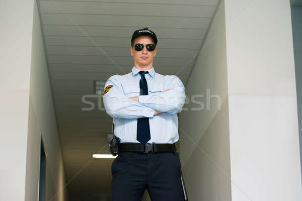 охранник Постоянный вход молодые мужчины безопасности Сток-фото © AndreyPopov