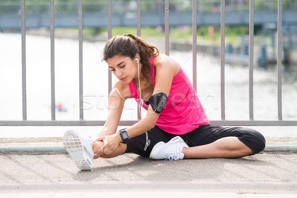 Woman Doing Exercises Stock photo © AndreyPopov