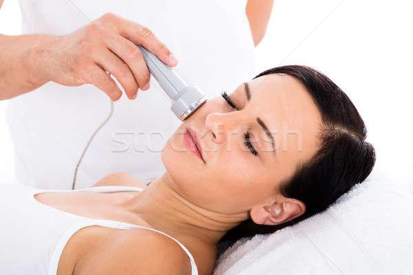 женщину терапии лоб лице Сток-фото © AndreyPopov