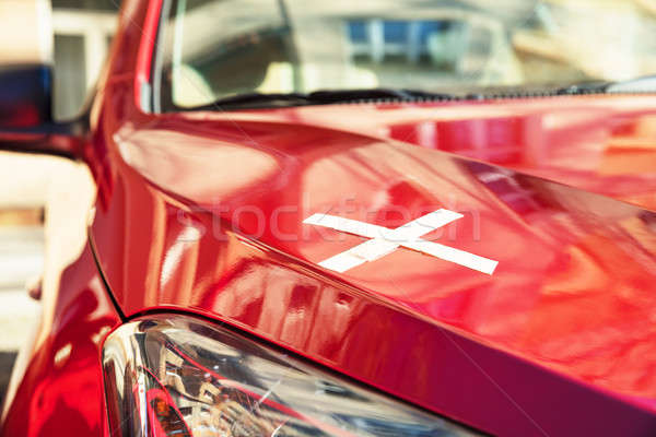 Bandage On Red Car Stock photo © AndreyPopov