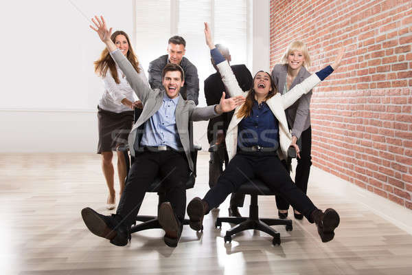 気楽な 楽しい オフィス 笑みを浮かべて ストックフォト © AndreyPopov