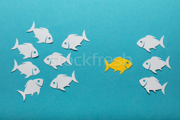 Stock photo: Handmade Paper Fishes