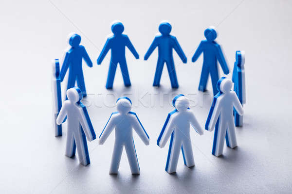 Close-up Of Human Figures Forming Circle Stock photo © AndreyPopov