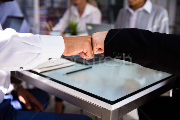 Two Businessmen Making Fist Bump Stock photo © AndreyPopov