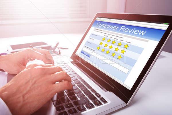 ビジネスマン 経験 ノートパソコン 手 デスク インターネット ストックフォト © AndreyPopov