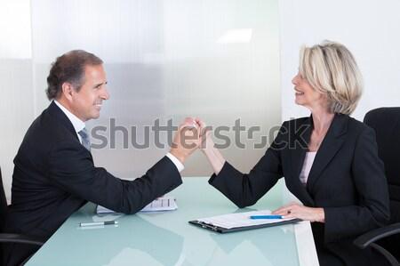 成熟した ビジネスマン 女性実業家 見える その他 ストックフォト © AndreyPopov