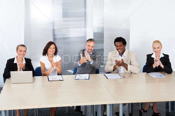 Corporate Personnel Officers Applauding Stock photo © AndreyPopov