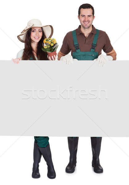 Portrait of male and female gardeners Stock photo © AndreyPopov