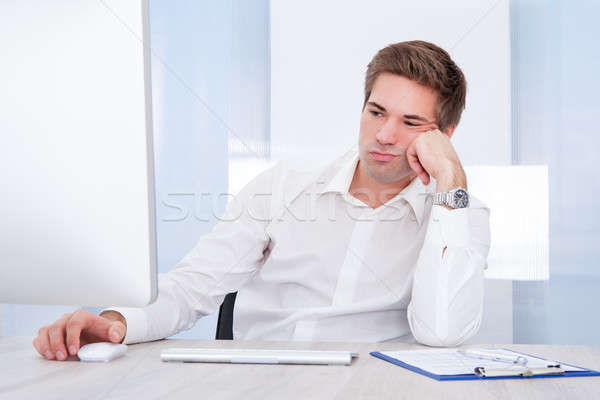 Portrait Of Tired Businessman Stock photo © AndreyPopov
