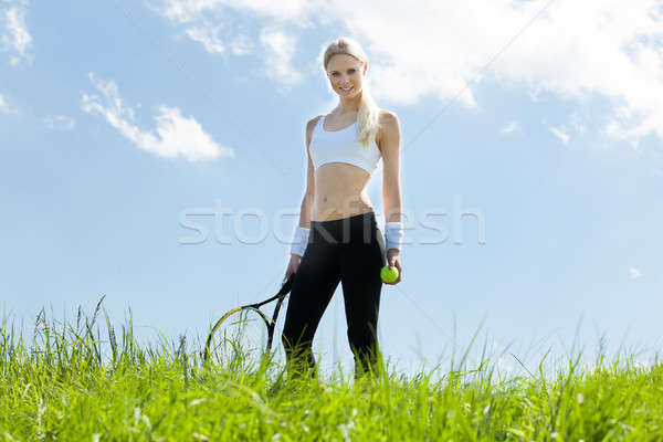 Portrait Of Young Female Tennis Player Stock photo © AndreyPopov