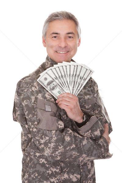 счастливым зрелый солдата 100 Сток-фото © AndreyPopov