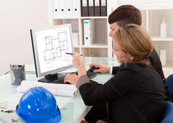 Two architects or structural engineers Stock photo © AndreyPopov