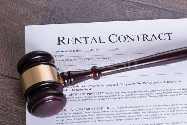 Rental contract legal concept Stock photo © AndreyPopov