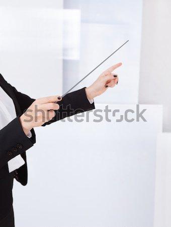 Handen muziek business vrouw vrouwen Stockfoto © AndreyPopov