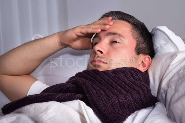 Man Suffering From Cold And Fever Stock photo © AndreyPopov