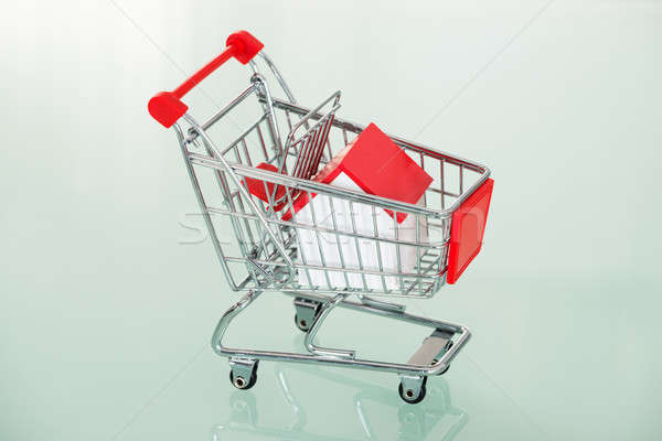 Hand Cart With House Stock photo © AndreyPopov