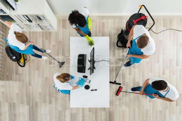Takarítás iroda felszerelések csoport egyenruha ház Stock fotó © AndreyPopov