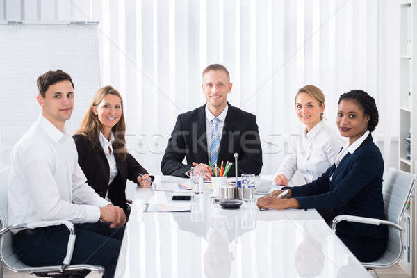 Businesspeople Attending Seminar Stock photo © AndreyPopov