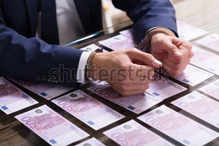 Businessperson In Handcuffs Arrested For Bribe Stock photo © AndreyPopov