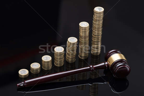 Gabela moedas dourado cinza dinheiro Foto stock © AndreyPopov