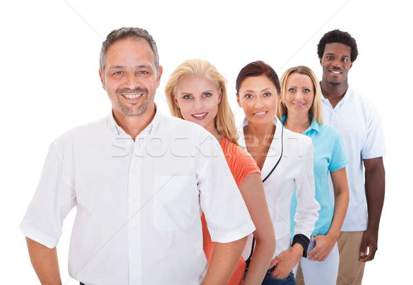 Group Of Multi-ethnic People Standing In A Row Stock photo © AndreyPopov