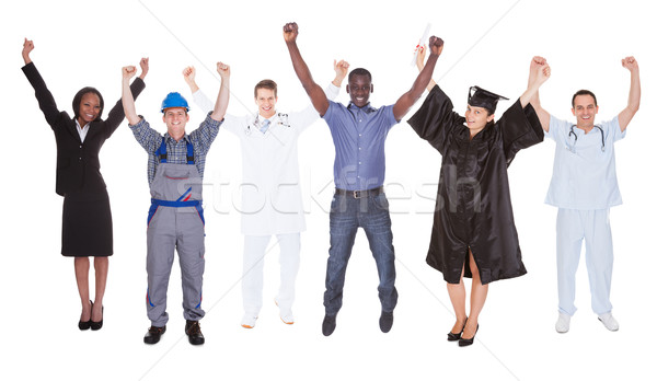 Excited People With Diverse Occupations Stock photo © AndreyPopov