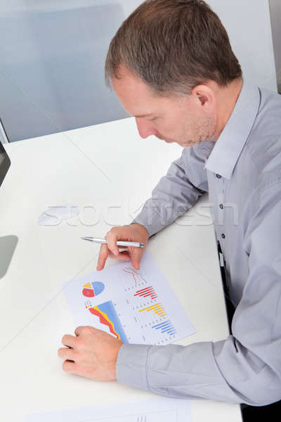 Stock photo: Businessman Analyzing Graph