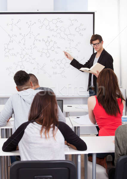 Teacher Teaching Chemical Formulas To College Students Stock photo © AndreyPopov