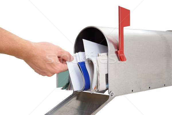 Person Taking Letter From Mailbox Stock photo © AndreyPopov