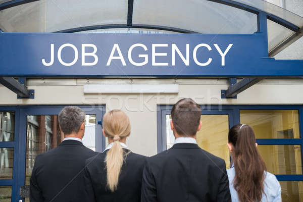 Permanente buiten baan agentschap achteraanzicht Stockfoto © AndreyPopov