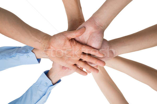 Stock photo: People Hands Stacking Together